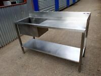 Commercial Kitchen Table With Sink 1530mm Stainless Steel- DELIVERY INCLUDED / PRICE REDUCED!