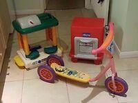 Child's Scooter, Kids Kitchen Bits