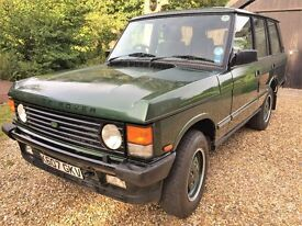 Range Rover Vogue SE low mileage Ardennes green full leather last year of production on new springs!