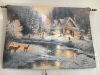 Christmas light up canvases