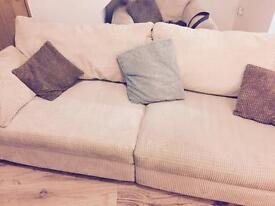 SCS cream upholstery sofa ***worth a look***