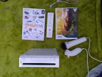 Wii console with 2 games and accessories