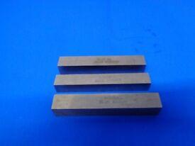 3 Lathe Tool Bits 100 x 15 x 15 Unused Blanks