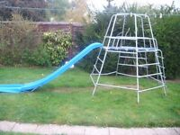 FULL SIZE METAL CLIMING FRAME WITH SLIDE