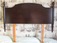 Mahogany Single Bed Stag Head Board