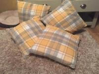 Curtains & cushion covers - like new