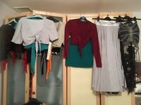 Belly Dance Clothes - skirts, tops, hip belts, most fit any size