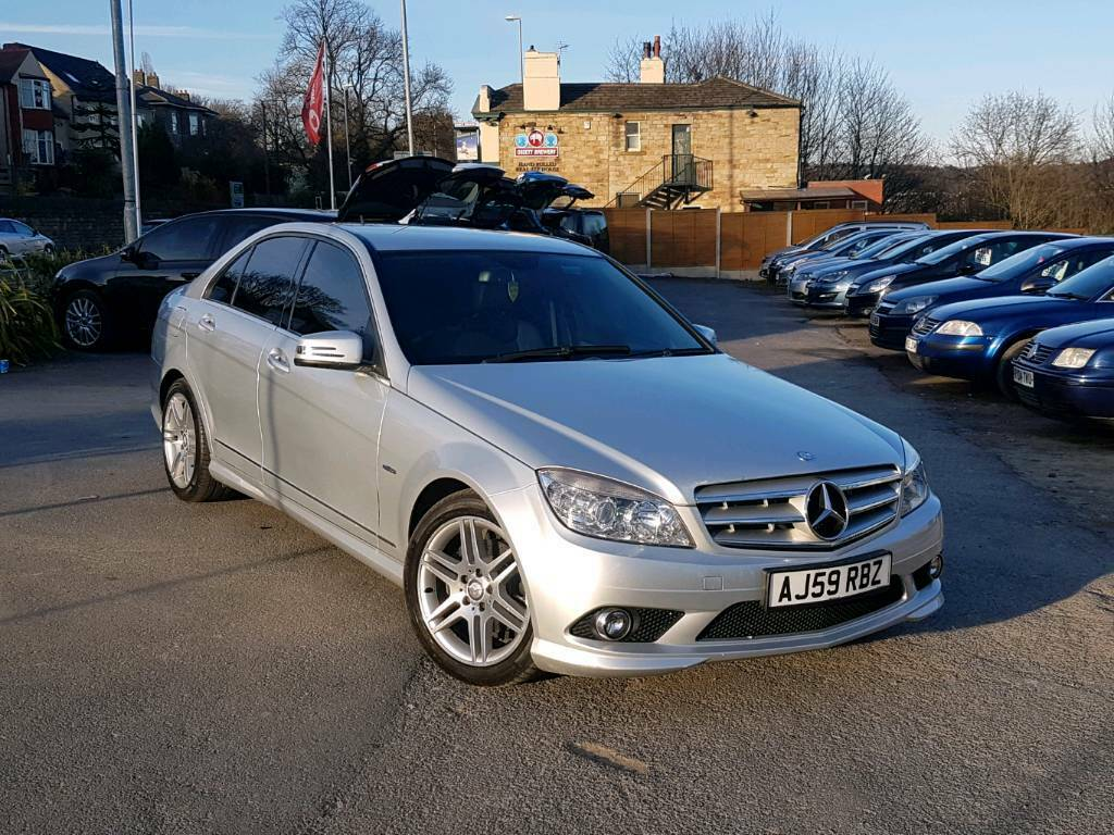 2010 mercedes c class c220 cdi amg sport auto silver 4 door f s h 2 owners long mot in. Black Bedroom Furniture Sets. Home Design Ideas