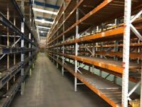 APEX HEAVY DUTY WAREHOUSE PALLET RACKING FRAMES BEAMS TIMBER SLATTED DECKS