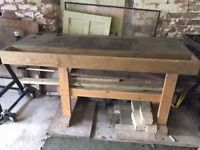 Wooden carpenters bench
