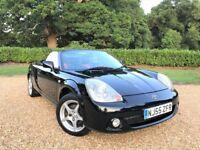 2005 Toyota MR2 Roadster *Watch Video* Low Mileage £2k+ TTE Extras Custom Leather AUX FSH New MOT