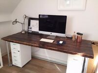 Beautiful Reclaimed Wood Office Desk - Handmade / Rustic Computer Desk