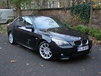 EXCELLENT SPEC!!! 2006 BMW 5 SERIES 520D M SPORT, FULL LEATHER SPORT SEATS, 1 YEAR MOT, WARRANTY