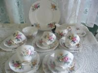 Crown Regent 20 Floral Bone China Tea Set