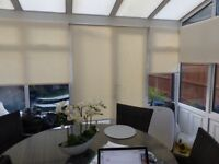 CONSERVATORY/WINDOW BLINDS BLACKOUT IN CREAM X 6