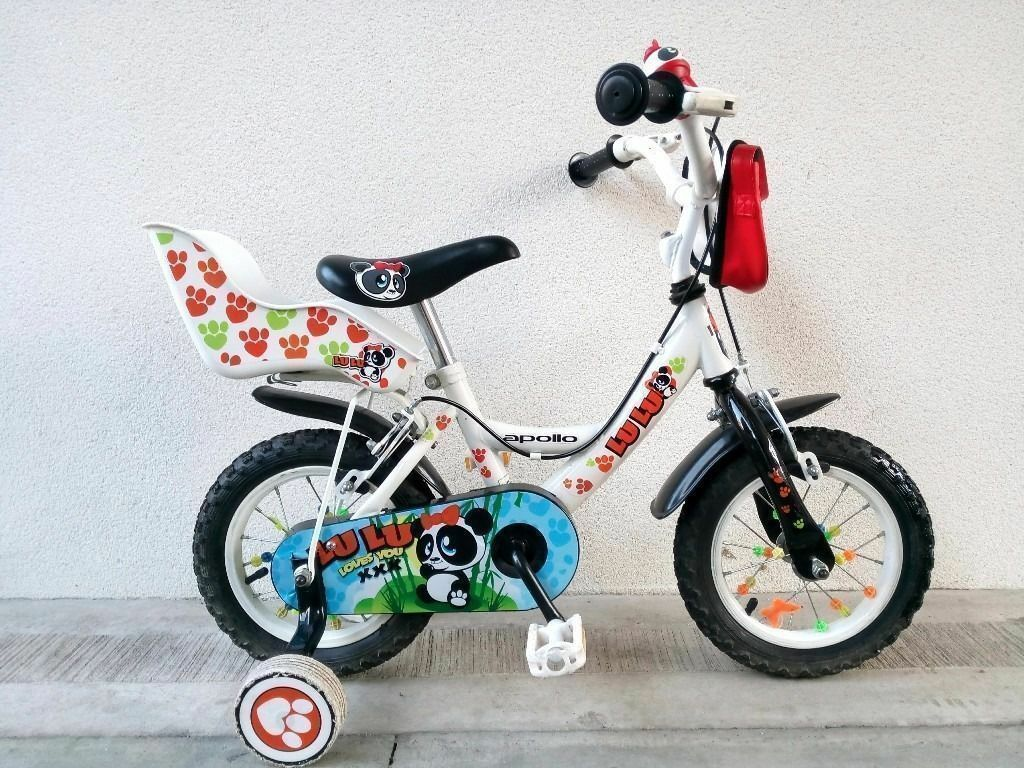 "FREE Bell with (2560) 12"" APOLLO Boys Girls Kids Bike Bicycle+STABILISERS Age: 3-4 Height: 90-105 cm"