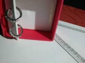 Sterling silver hoop earrings new