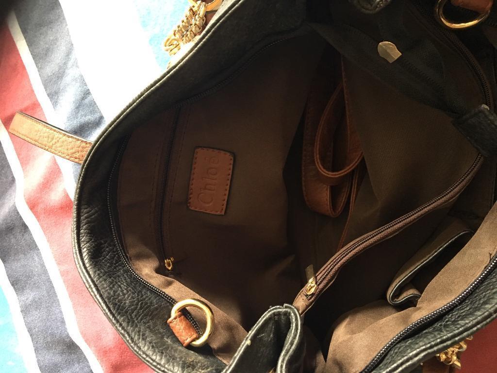 Black and brown shoulder bag