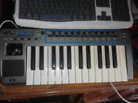novation xio synthesizer midi keyboard controller