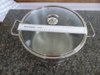 Large casserole pot - stainless steel