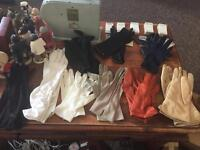 9x Ladies Vintage 1950's Gloves - Leather, Evening, Day Various Colours