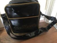 Mckenzie black and gold pouch/sidebag