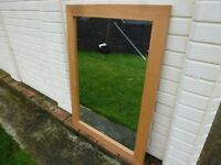 LOVELY WALL MIRROR 106cm x 76 cm only £10