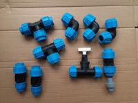 Underground water pipe fittings