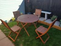 Wooden Garden Furniture Table and Chairs Set