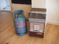 Alvima 2c radiant gas heater complete with gas bottle.
