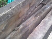 Railway Sleepers Solid Wood Large Planks 12 x 24 x 240cm £28 each or 180 for 7