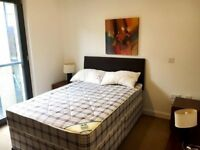 furnished flat with one double bedroom.