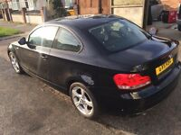 BMW 1 series coupe, only 78k, sport in black 2011 xenon head light and led rear lights