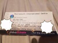 Blink 182 Ticket