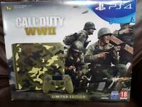 Ps4 Slim 1TB WW2 Limited Edition with Fifa 18.