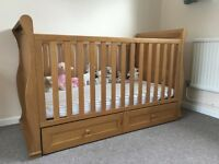 Sleigh cot bedroom set East Coast Langham