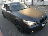 MATTE BLACK BMW 5 SERIES 530D DIESEL AUTO HPI CLEAR £3,995 ONO