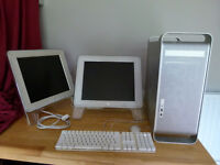 Apple PowerPC G5 Dual 2Ghz 4GB RAM + 2 Monitors fully working £60 ono