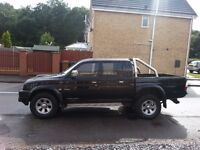 Mitsubishi L200 Trojan. 2007. Good condition for age. Leather interior. Mot until Feb 2017. Black.