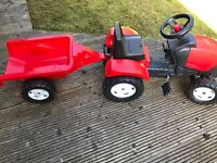 Childs pedal tractor and trailer