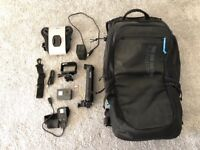GO PRO HERO 5 BLACK EDITION 4K HD WATERPROOF ACTION CAMERA + 64GB SD 3 WAY STICK + OTHER ACCESSORIES