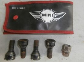 i have an original set of wheel locking nuts for a mini cooper.still in the wallet not used.