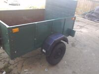 A good strong hard wood trailer new mini tyres rear lights