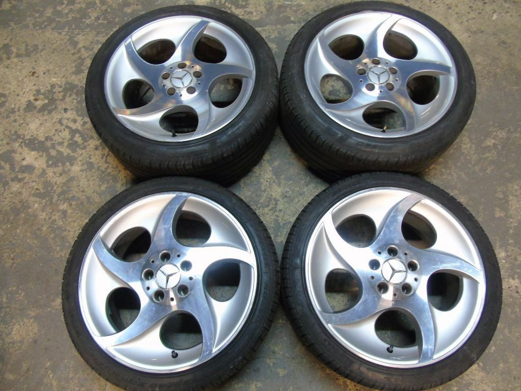 Alphard mercedes benz sl class slr 18 staggered alloy for Mercedes benz wheels rims