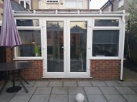 Used Conservatory White UPVC 4020mm X 2840mm - Buyer To Dismantle