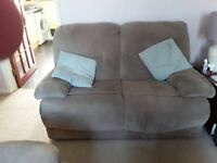 Two seater sofa & footstool for sale