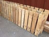 18 ft solid wood fence with posts x 2ft high