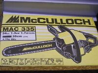 BRAND NEW STILL IN BOX McCULLOCH 14INCH BLADE CHAINSAW