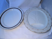 2 x Vintage Oval Ceramic Meat Platters - HUGE! - Wedgwood and G & Co.