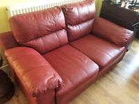 TWO 2 SEATER SETTEES LEATHER £100 NO OFFERS